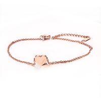 Wholesale Gold Love Anklet Bracelet - Adjustable Length Bracelet & Anklets Rose Gold Plated Stainless Steel Heart Love High Quality JC-002