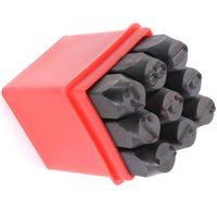 Wholesale Metal Number Stamping - Wholesale- SZ Hot Stamps Numbers Set Punch Steel Metal Tool Case Craft Hot 2.5mm
