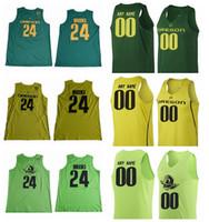 Wholesale Custom College Shirts - Custom 2017 Oregon Ducks Dillon Brooks College Basketball Jerseys 24 Dillon Brooks Shirts Green Cheap University Stitched Basketball Jersey