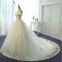 Wholesale custom made wedding dress with long sleeves