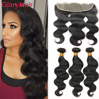 Extensions Remy Grossistes Pas Cher-Perfect Peruvian Body Wave Hair Weave Bundles avec 13x4 Top Lace Frontal Closure Wet and Onavy Remy Extensions de cheveux humains Prix de gros