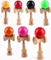 Wood paint colors games - Kendama Ball Toy PU painting beech Wooden Japanese Traditional Funny ball Game Education Toy Colors Christmas gift