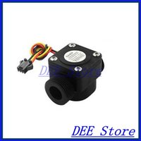 Wholesale Hall Effect Water Flow - Wholesale- G3 4 Water Flow Hall Effect Sensor Flowmeter Counter 2-45L min 1.75Mpa