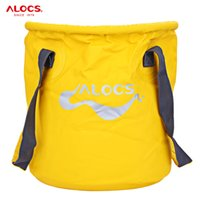 Atacado- ALOCS 11L PVC Picnic Bags Outdoor Portable Folding Bucket Water Storage Holder Bolsa Bolsa para pesca Camping Picnic BBQ etc