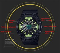 Wholesale Military Watches Strap - 2017-new shock digital LED AAA Men's quartz sports watch strap rubber army military quartz watch watch waterproof wrist