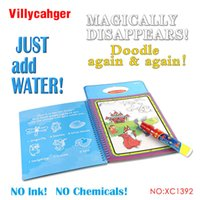 Wholesale Boys Drawing Book - water drawing book 1 Pcs New arrives Intimate Coloring Water Drawing Book with 1 Magic Pen for kids 1392