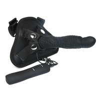 Wholesale Strap Vibrators - Strap on Harness Big Black Dildo Vibrator for Women sex tools for sale Lesbian Gay dildo Strapon Adult Sex Toy sexy shop 7 modes