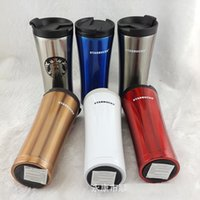 Wholesale Coffee Warmers Wholesale - Starbucks Insulation Cups Stainless Steel Coffee Cup Heat Protection Water Bottles Car Mugs Easy To Carry Business Mugs Hot Sale 22sh R