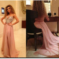Wholesale Myriam Fares Hot - 2017 New Hot Fashion Arabic Singer Myriam Fares Prom Dresses Sexy Spaghetti Straps Cutaway Sides Straps Criss Cross Backless Evening Gowns