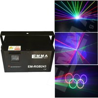 Wholesale Ishow Laser Software - 2000mW RGB Laser Light with 30-40kpps scanners+ishow laser software in sd card