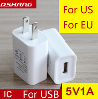 Wholesale Apple European - Factory direct usb charger 5V1A charging head European regulations the United States regulations power adapter mobile phone charger wholesal