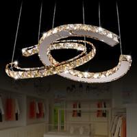 bündige leuchten großhandel-Edelstahl Kristall Lampe moderne LED kreative Persönlichkeit Kronleuchter Wohnzimmer Bekleidungsgeschäft Esszimmer Beleuchtung