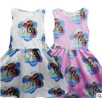 Wholesale Body Tutu - 2017 new style Body print dress moana children cartoon sleeveless dress moana witch Acetate fiber free shipping