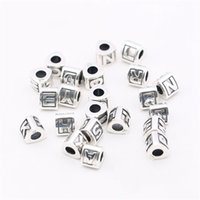 Wholesale European Beads Charm Letters - Alphabet 26 Letter A To Z Triangle Charm Bead Solid 925 Sterling Silver Fashion Women Jewelry Component For European Style Bracelet PD003