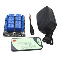 Wholesale female plug wiring - Wholesale- IR Remote Control Switch Module Relay ,Add IR Transmmiter and 5.5mm female plug DC wire, With 2A 12V AC DC Adapter