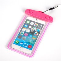 Wholesale wrist wallet case for sale - Group buy IP68 waterproof Smart Phone Pouch Case Transparent Diving Dry Bag with Wrist Strap for Iphone