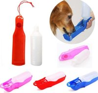 Plastic small plastic drinking bottles - Portable Pet Drink Bottle Dog Cat Travel Water Bottle Bowl Dispenser Convenient Travel Feeding Bowl Dispenser Feeder ml KKA2167