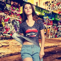 Wholesale Motorcycle Blouse - Street Motorcycle printing women's short sleeve T-shirt new blouse European and American women's wear