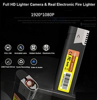Wholesale Hd Lighter Camera - HD 1080P Lighter Cameras with Real Electronic Fire Lighter USB Mini DV Lighter DVR Camera Video Recorder Cam Camcorder Black