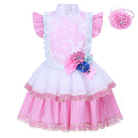 Wholesale Wholesale Clothes Online Kid - Pettigirl 2017 Fashion Style Flower Girl Dresses Pink Lace Dress Kids Birthday Party Wear Clothing Dresses Online G-DMGD001-1302