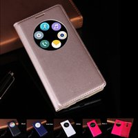 Wholesale Circle Plastic Cover - Slim Quick Smart Circle View Case For LG G3   G3 Mini   G4 Auto Sleep Wake Function Flip Cover Leather Case Holster