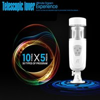 Wholesale Sex Flashlights - EASY LOVE TELESCOPIC LOVER retractable automatic masturbation machine male Masturbator Rotation flashlight sex toys for man
