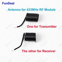 Wholesale 433mhz transmitter receiver module - Wholesale- 2pcs High Quality 433MHz Spring Antenna For RF Receiver and transmitter Module 433 built-in antennas For Wireless Remote Control