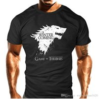 Wholesale Green Flash Games - Summer Top quality short anime sleeve game of thrones print men tshirt casual cotton winter is coming mens t shirts couple t shirt