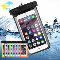 Wholesale Pvc Waterproof Case - Dry Bag Waterproof case bag PVC Protective universal Phone Bag Pouch With Compass Bags For Diving Swimming For smart phone up to 5.8 inch