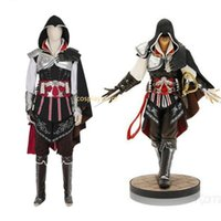 Wholesale ezio costume for sale - Assassins Creed Costume Ezio Auditore Cosplay Costume For Halloween Carnival Party Men Full Set Custom Made