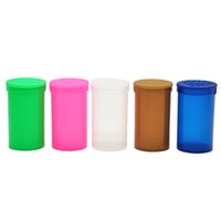 Wholesale Pill Bottle Case - 19 Dram Empty Squeeze Pop Top Bottle Vial Medical Herb Pill Box Herb Spice Containers Airtight Storage Case Color Random