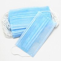 Wholesale Disposable Face - 500Pcs Dental Disposable Medical Dust Mouth Surgical Face Mask Respirator