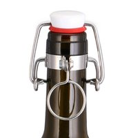Wholesale Flip Bottle Stoppers - 12Pcs Ez Cap Flip Top Stopper Root Beer Bottles Replacement Swing Tops Homebrew Brewing Wine Stoppers Bar Tools