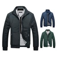 Wholesale Sportswear Men Plus Size - New 2017 Jacket Men Fashion Casual Loose Mens Jacket Sportswear Bomber Jacket Mens Jackets and Coats Plus Size M- 3XL