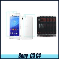 For Sony For Sony Xperia Z L36H Tempered Glass SONY C3 C4 Top Quality Tempered Glass Screen Protector for SONY Z4 plus 0.26MM 2.5D with retail box