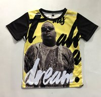 Real Size USA Era tutto un Sogno Notorious BIG 3D Sublimation stampa T-Shirt Plus dimensioni