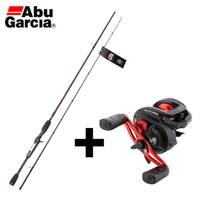 Wholesale Abu Garcia Fishing Rods - Wholesale- 2016 Original Abu Garcia BMAXC662M 1.98m Baitcasting Fishing Rod+Bmax3 5BB6.4:1 202g 8kg BaitCasting Culter Fishing Reel Set