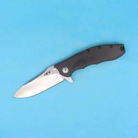 Wholesale High Carbon Pocket Knives - High End OEM ZT0562CF Hinderer Design Flipper folding knife D2 60HRC Satin finish blade knife EDC Pocket knives Collectable