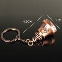 Wholesale Dragon Phoenix Jewelry - Novelty items Vintage Dragon Phoenix Lucky Mini Bell Key Chain Ring Holder jewelry bag charm Pendant keychain