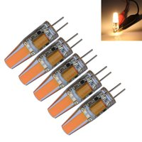 5pcs / lot G4 1 COB 110-150 LM blanc chaud / blanc froid décoratif LED bougies DC 12 / AC 12 V