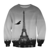 Wholesale Eiffel Tower Hoodie - Wholesale-Raisevern New Harajuku 3D Sweatshirt Hoodie Suits Eiffel Tower Printing Sweatshirts Tracksuits Casual Pullovers For Men Women