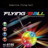 Wholesale Ufo Aircraft Toy - Easy Operation Vehicle Flying RC Flying Ball Infrared Sense Induction Mini Aircraft Flashing Light Remote Control UFO Toys for Kids