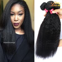 Wholesale Wholesale Virgin Hair Companies - Malaysian virgin human hair 8A Unprocessed kinky straight yaki natural color three bundles queen hair double weft from Longjia Company