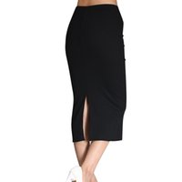 Wholesale new pencil skirt womens knitted midi skirt elastic Waist mid calf korean summer autumn casual office red black female clothing