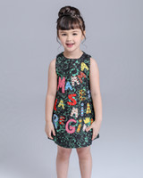 Wholesale Designer Clothes For Kids - High End Luxury 2017 Autumn Girls Dress Brand Designer Kids Clothes Winter Kids Clothes For Baby Girl Dress Princess Dress 3-10Y qz791