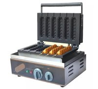 Wholesale Ce Dog - Hot Sale Commercial 6 Grids Crispy Hot Dog Waffle Maker Machine Electric Muffin Making Machine Waffle Machine LLFA