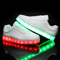 online shopping Usb Light Shoes - New 2016 8 Colors LED Luminous Shoes Unisex Led Shoes for Adults Men&Women Glowing Shoes USB Charging Light chaussure lumineuse