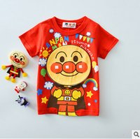 Wholesale Kids Superman T Shirts - Kids T-shirt baby boys girls bread superman short sleeve Tees girls cartoon anime printed princess tops fashion kids summer clothes T4630