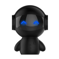 robot reproductor de mp3 al por mayor-2017 Más Nuevo Lindo Robot portátil Altavoz Bluetooth Manos Libres Estéreo Cancelación de Ruido AUX TF MP3 Reproductor de Música teléfono Celular Llamada