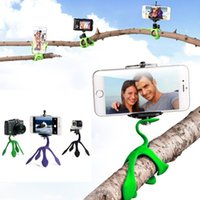 Wholesale camera mounts xiaomi online - Mini Tripod Mount Portable Flexible Stand Holder for iPhone For Sport Camera xiaomi yi Sj4000 SJCAM c30 Sports Camera Accessories MOQ